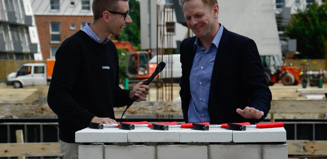 #fomderbaumeister: Grundsteinlegung mit THW-Manager Thorsten Storm