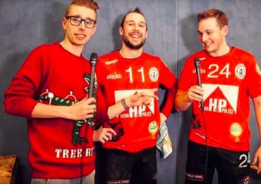 Die Jungs vom TSV Ellerbek zum Weihnachtsinterview bei FOM!